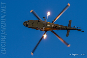 Belgian Air Force - A109 - Two flares