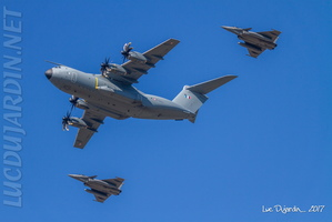 French Air Force - A400M Atlas + Rafale close formation