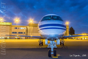 Belgian Air Force - Embraer ERJ-135 - CE-02 at night