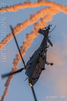 Belgian Air Force - A109 with flares