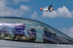 Belgian Air Force - F-16 Pilot & Piper Cub