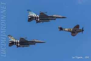 Belgian Air Force - F-16 & Spitfire D-Day 75th Anniversary